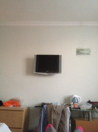 Grand Beach Hotel: Tiny tv screen