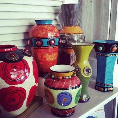 Foundry: Handpainted upcycled vases