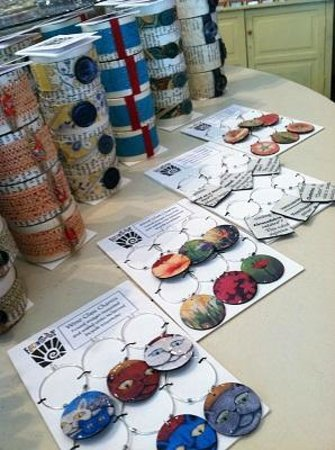 Foundry: Our handmade wine glass charms and napkin rings, which were featured in GreenCraft Magazine.