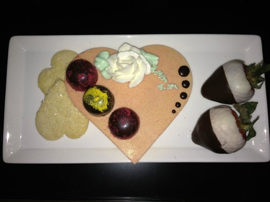 Four Seasons Hotel Chicago: A Valentine's Treat sent to our room