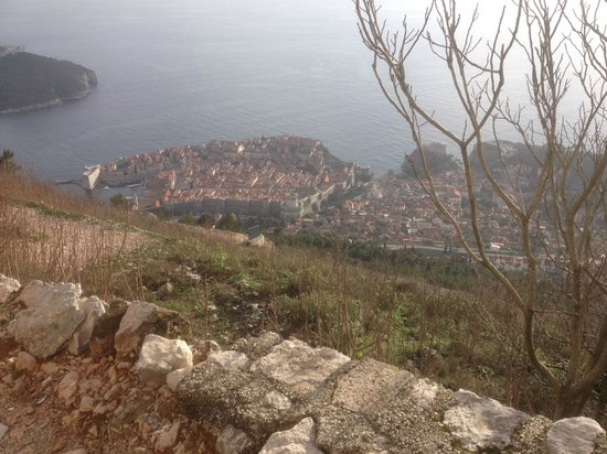 Funiculaire de Dubrovnik : Dubrovnik from Srd Hill