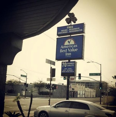 Americas Best Value Inn - Downtown Phoenix: Instagram picture of the sign