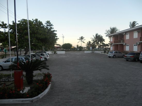 Boulevard da Praia Hotel : vista pro mar do estacionamento