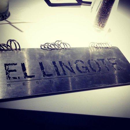 El Lingote Restaurante : El Menú