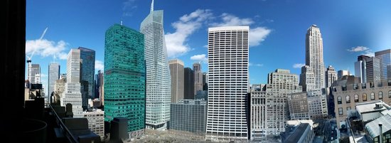 The Bryant Park Hotel : panoramic taken with cell