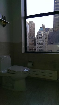 The Bryant Park Hotel : bathroom window