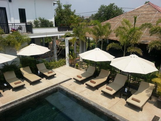 Suorkear Boutique Hotel & Spa: overlooking the restaurant and outside the walls of the hotel