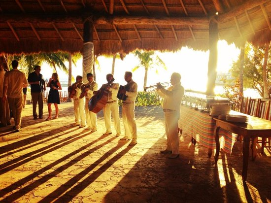 Club Playa Mexico: the mariachi band
