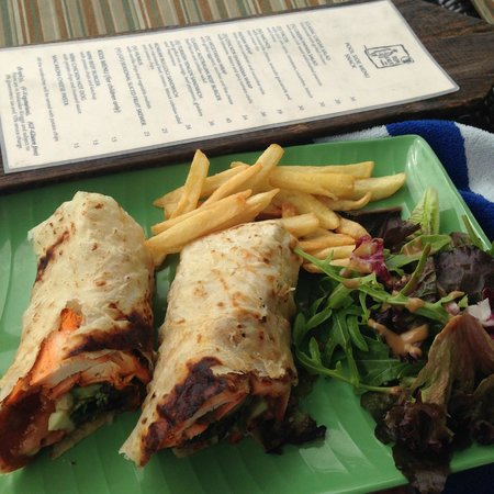 Shangri-La's Rasa Ria Resort & Spa: bar menu and Indian chicken wrap
