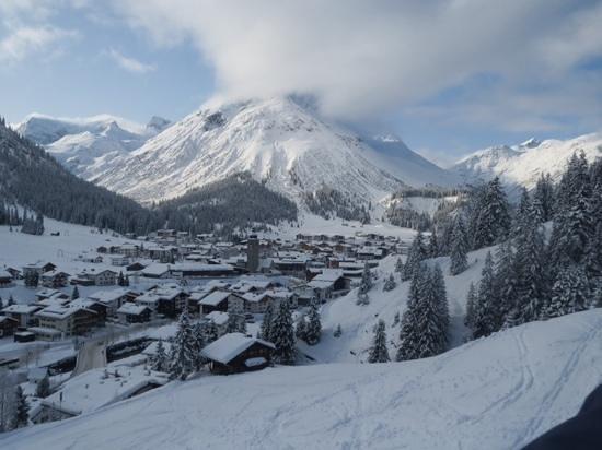 Ski Arlberg: View from Oberlech