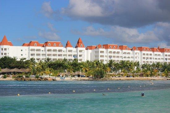 Grand Bahia Principe Jamaica: Resort as seen from the beach