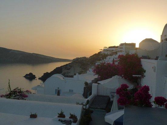 La Perla Villas: coucher de soleil