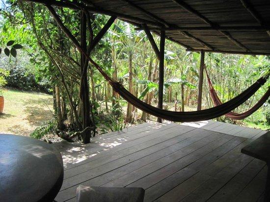 Cabins El Sol: The back porch