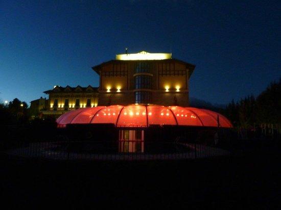 Sercotel Villa de Laguardia Hotel : Main spa pool at night