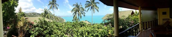 Samui Mountain Village: Blick vom Hotelgelände aufs Meer