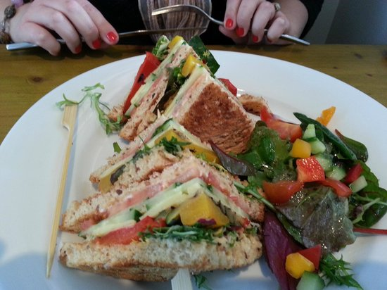 At One Dining Room: Veggie Club Sandwich
