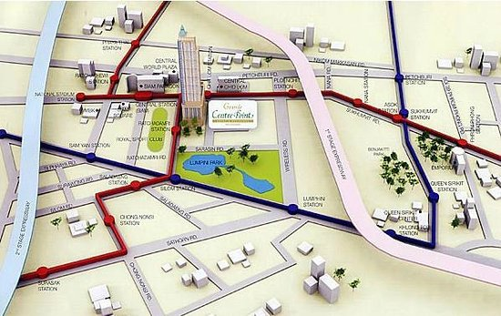 Grande Centre Point Terminal 21: Map of Terminal 21 Area