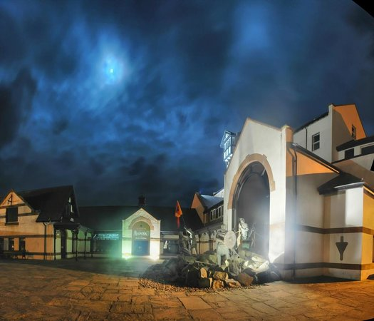House of Manannan: Heritage center at night