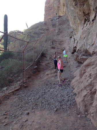 "Camelback Mountain: First major ""climb"" with railings"