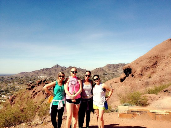 """Camelback Mountain: """"Resting point"""" after initial steep climb onto the mountain."""