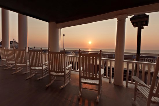 Lankford Hotel: view from the boardwalk level porch on main hotel