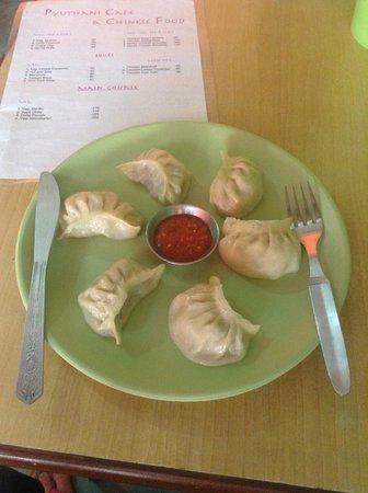 Pyuthani cafe and Chinese food: more umm ummm good momo's