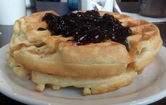 BEST WESTERN PLUS Revelstoke: Waffles for breakfast, serving 1...