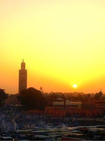 Riad RK : Coucher de soleil sur Marrakech