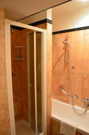 Hotel delle Nazioni: отдельно душевая и ванна