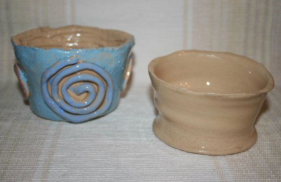 Eastnor Pottery & The Flying Potter : My friend had a go at a coil pot and it came out really well