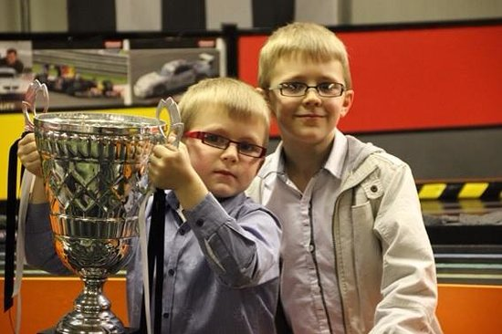 Stonerig Raceway: My boys and the winners trophy!