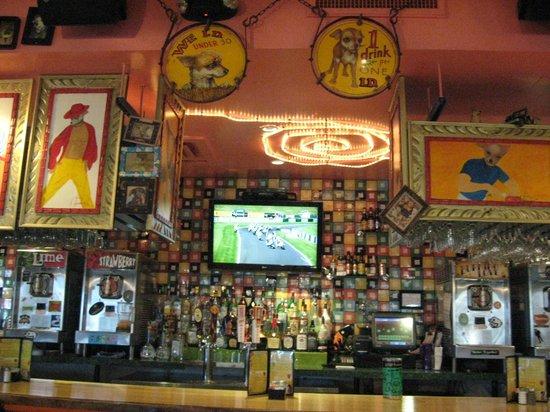 Chuy's: Art over bar area
