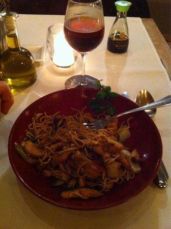 Grand Cafe Horta : Wok di pollo!