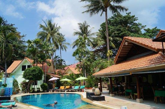 Chalala Samui Resort : Aussicht vom Pool