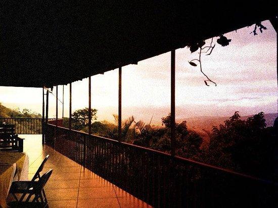 La Cascada Bed and Breakfast : Blick von der Terrasse