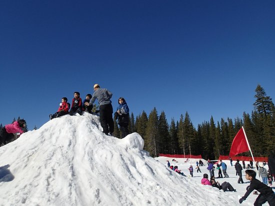 Norden, CA: snow hill for kids to play