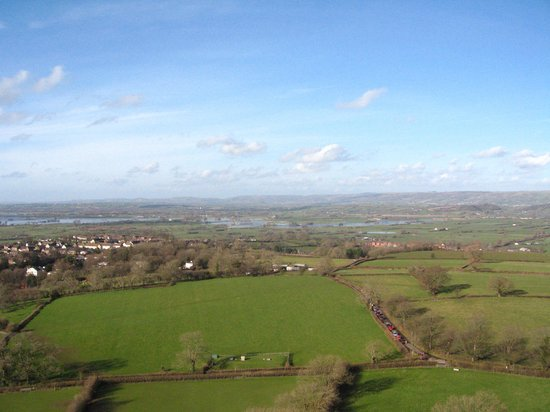 Glastonbury Tor: A view from the top of the Tor.