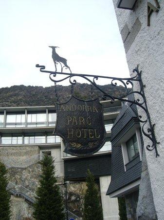Andorra Park Hotel: Letrero