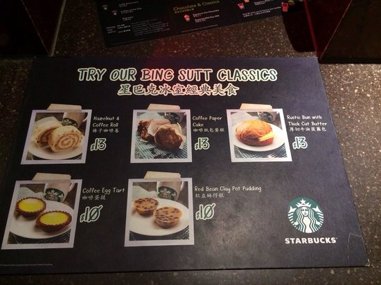 Bing Sutt Menu Picture Of Starbucks Coffee Bing Sutt