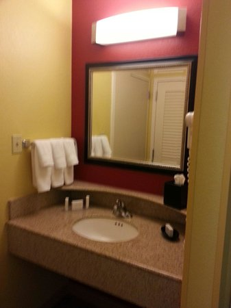 Courtyard Anaheim Buena Park: Clean sink and vanity area.