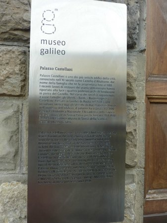 Museo Galileo - Institute and Museum of the History of Science: front entrance