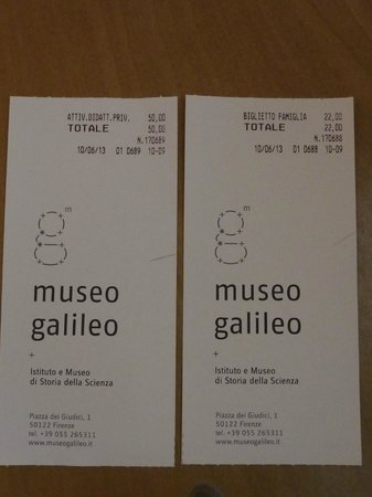 Museo Galileo - Institute and Museum of the History of Science: tickets