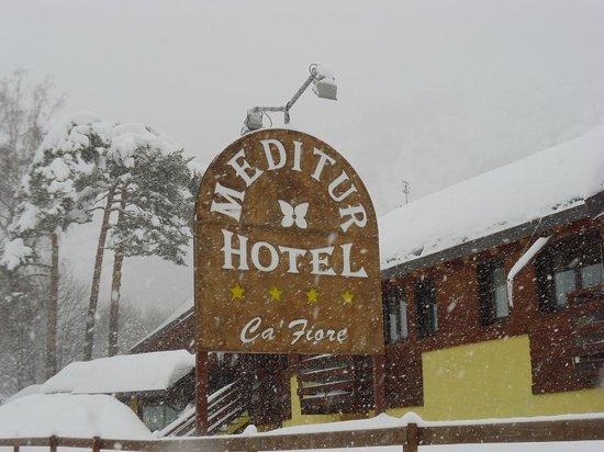 Hotel Ca Fiore : Ingresso sotto la neve