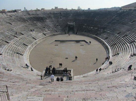Arena di Verona: arena, vista superior