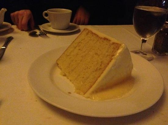 Del Frisco's Double Eagle Steak House : yummy yummy lemon cake. huge slice to share.