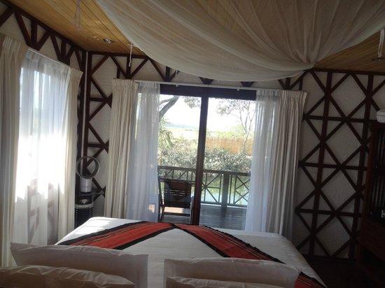 ViewPoint Lodge & Fine Cuisines: Chambre avec vue sur la terrace