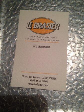 Le Brasier des Ternes : Carte