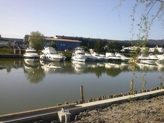 Iron Gate Camping Marina : vue de la terrasse