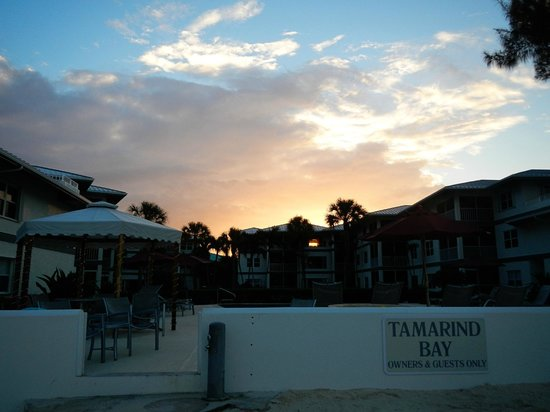 Tamarind Bay Condos: Sunset over the condos