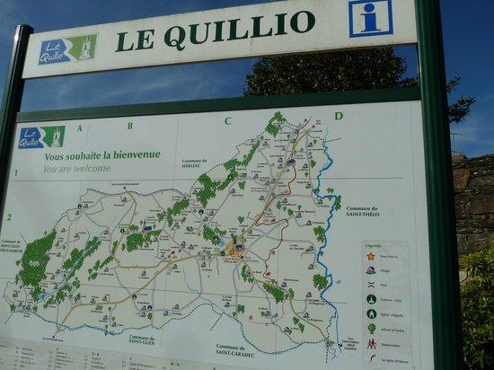 Chambres d'Hotes le Pottier : Carte du Quillio